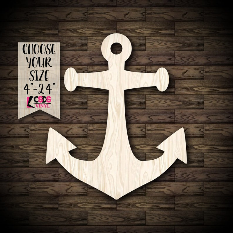 Ship Anchor Wood Cut Out Choose from 21 Sizes