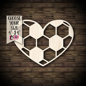 Choose from 21 Sizes Football Sports Fan Wood Cut Out