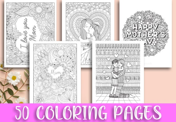 Mother's Day Coloring Pages for Kids Teens Adults  Best