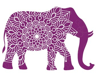 Elephant Mandala Png Etsy All mandala clip art are png format and transparent background. elephant mandala png etsy