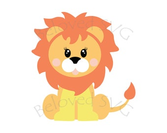 Kids Lion Svg Cute Lion Svg Baby Lion Svg Cartoon Lion Etsy