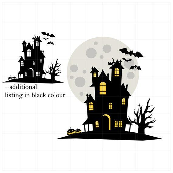 Halloween Svg Haunted House Svg Halloween Svg File Etsy