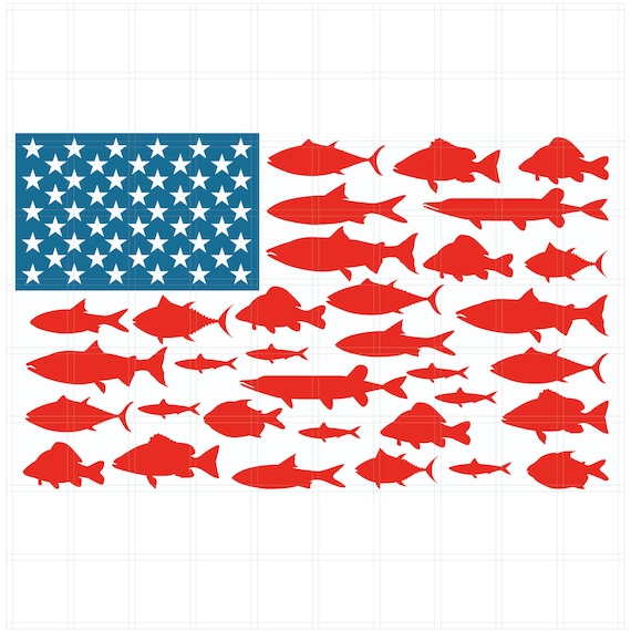 Download Flag Fish Png 4th Of July Svg