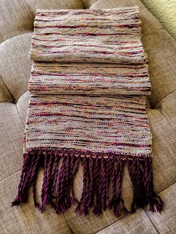 Handwoven Scarf - Sparkling Purple