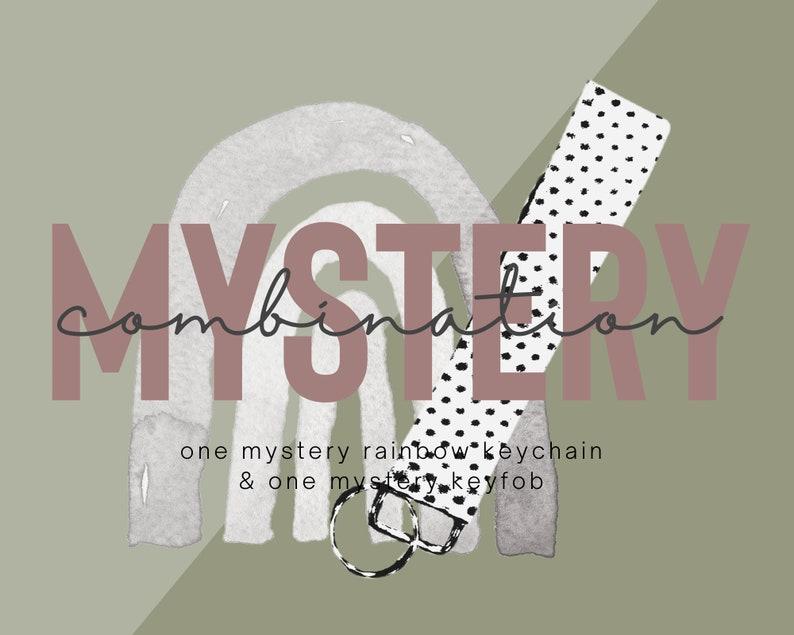 Mystery Rainbow Keychain /& Keyfob  Mystery Combo Mystery Bag Mystery macrame rainbow  Mystery fabric Keyfob Mystery Box