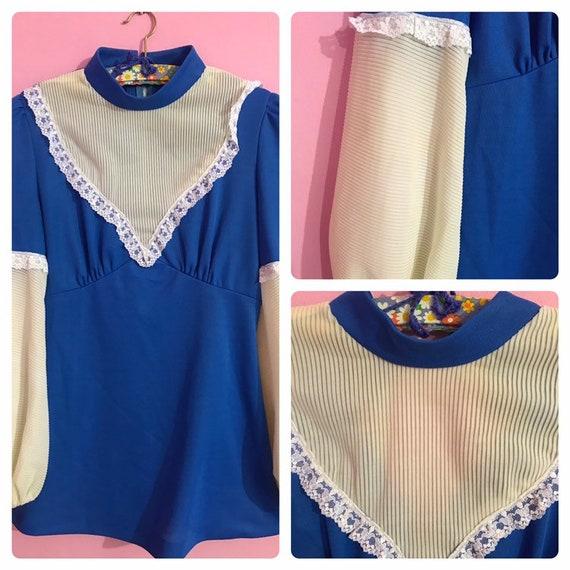 60s mini gogo dress bishop sleeves size S