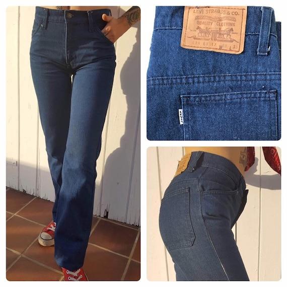 "1970s levi's big ""E"" bootcut jeans size 27"