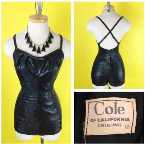 """COLLECTOR PIECE """"50s Cole of California lurex swim"""