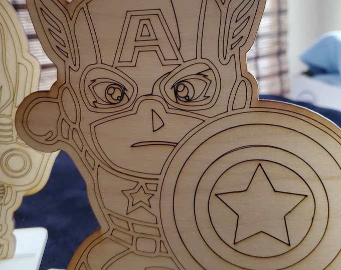 Paint Your Own Super Hero Set