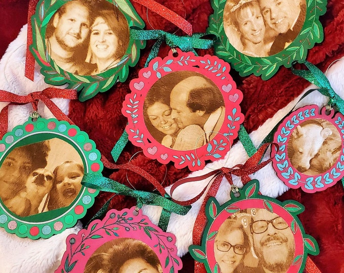 Engraved Personalized Holiday Ornament