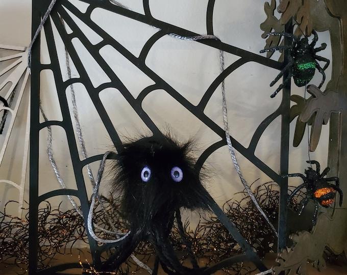 Wooden Spider Web and Monster Alien Spider
