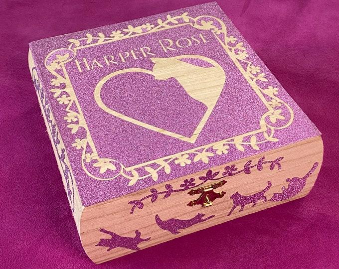 Custom Wooden Glitter Box