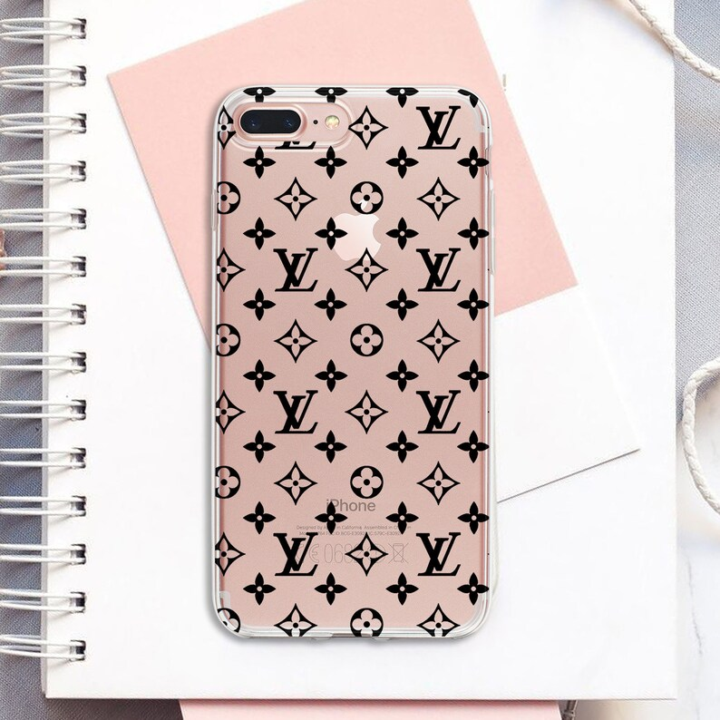 buy online 0fdf9 e062e Louis Vuitton iPhone 8 plus case black LV iPhone XS max case inspired Louis  Vuitton case clear iPhone X case iPhone Xr Galaxy S9 S10e S10