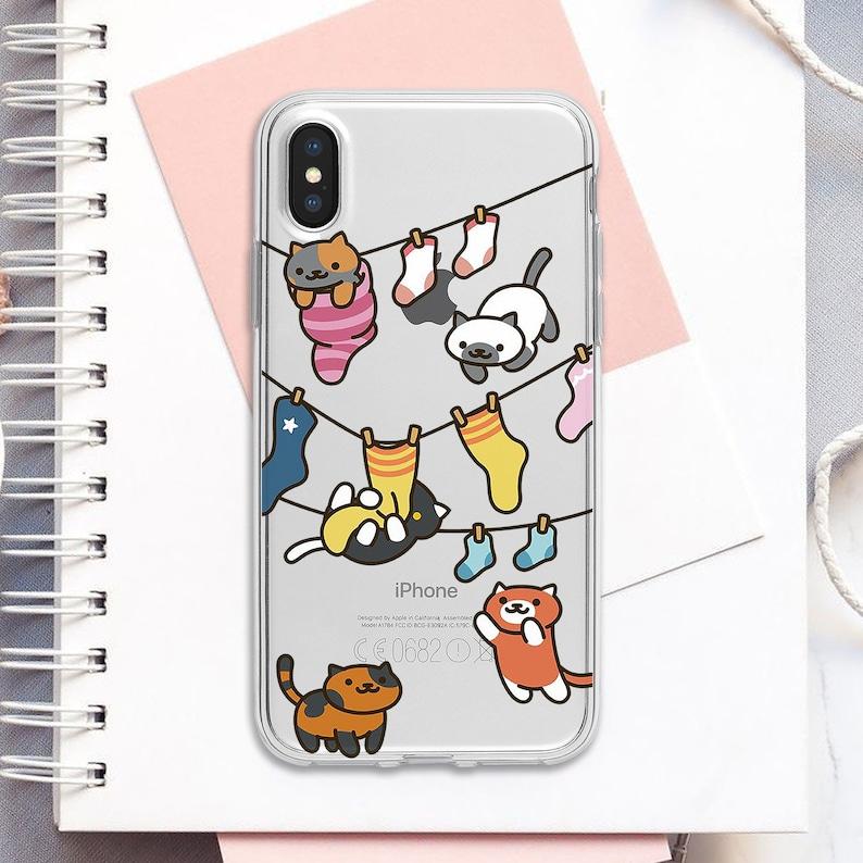 Neko Atsume Funny Cute Cover Cat Case