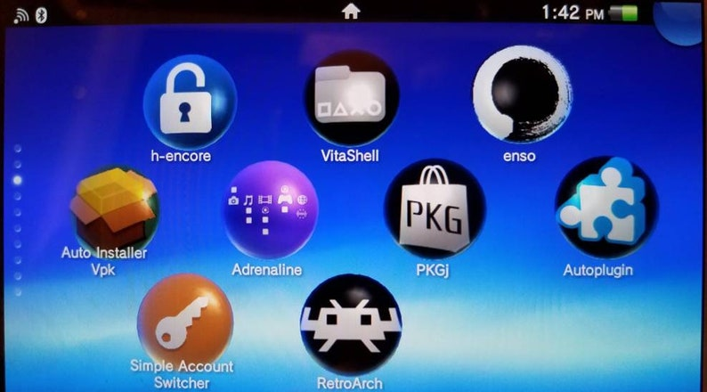 Sony PS Vita 3 65 OLED 3G Wi-Fi PCH-1101 Henkaku modded / Enso with  thousands of Games!!