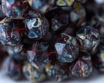 10mm Czech Glass English Cut Hyacinth 25 Pieces