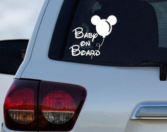 "Disney Mini Mouse  Baby On Board Decal Car Window Vinyl Decal Sticker 5/"" x 5/"""