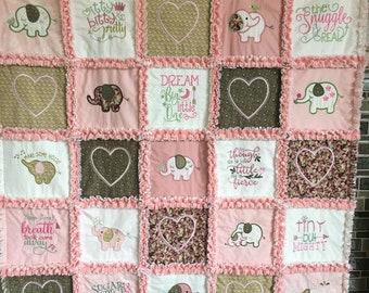 Elephant rag quilt | Etsy