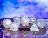St. Elmo 39 s Fire - Aurora Borealis RPG DND 7-Piece Polyhedral Dice Set - Hand Inspected with Dice Bag