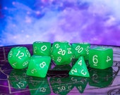 Aurora Borealis - Aurora Borealis RPG DND 7-Piece Polyhedral Dice Set - Hand Inspected with Dice Bag