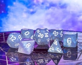 Arctic Rift - Aurora Borealis RPG DND 7-Piece Polyhedral Dice Set - Hand Inspected with Dice Bag