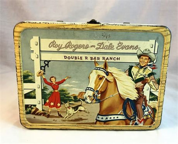 Roy Rogers, Dale Evans tv show memorabilia, kids lunch box, vintage lunch box
