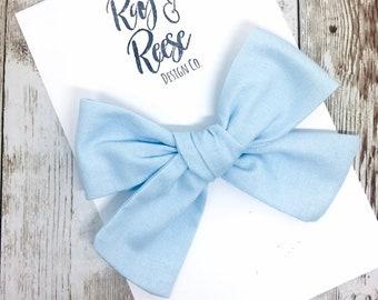 Light Blue Bow Etsy