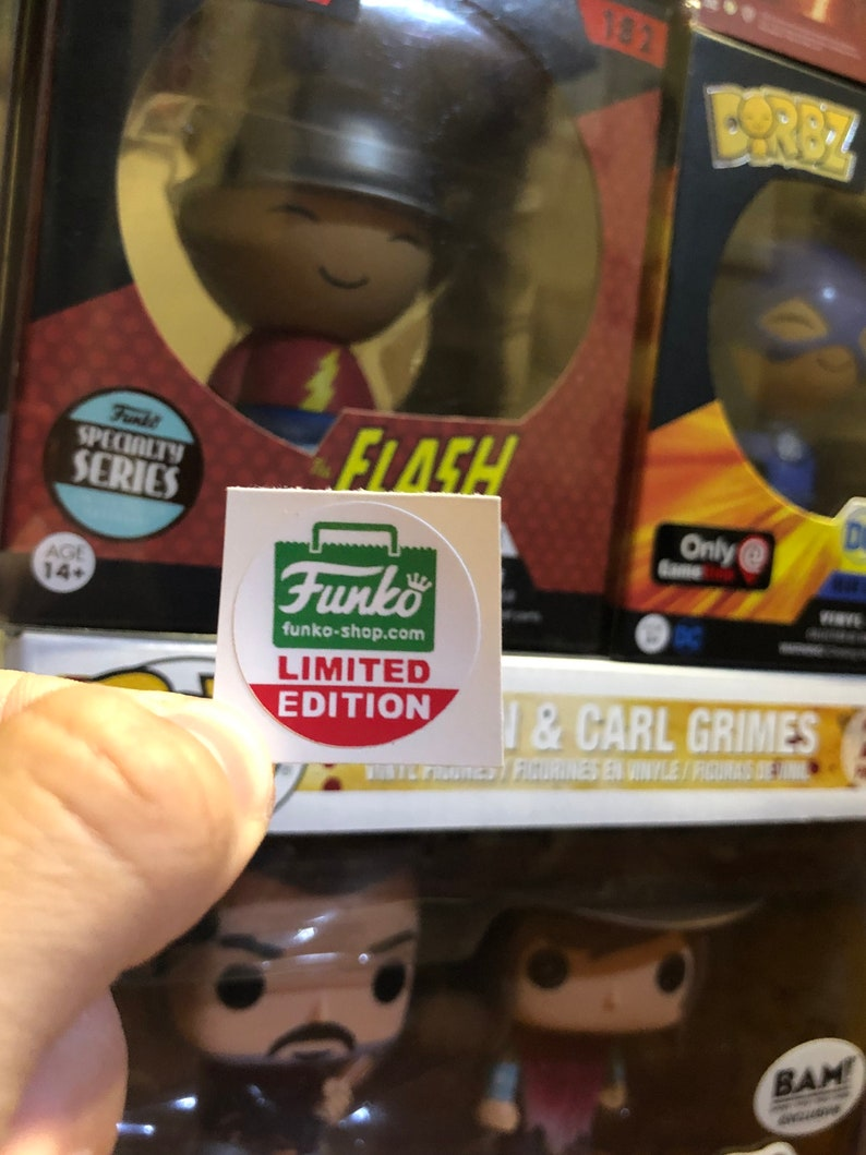 STICKER REPLACEMENT CHASE LIMITED EDITION FUNKO POP YELLOW