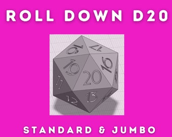 Roll Down, Spin Down, Countdown D20 3d Printed Master Die