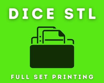 STL Printing Master Dice - Customer Supplied STL Printing Service  for Set of Seven ( 7 ) Polyhedral Master Dice