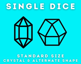 Crystal & Alternate Shape 3d Printed Master Dice for Commerical Use - Rhombic - Trigonal - Shard - Crystal - Gem - Unique Geometry