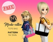 FREE Tote bag for dolls. Read please description to find out how to get it for FREE. Doll clothes patterns pdf.