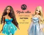Smart Doll Party Dress PATTERN. Have all three sizes default, medium smooth and large bust. Doll clothes patterns pdf