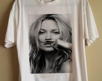 **Unisex Kate Moss Vest** Tank Top Singlet T-Shirt **Sizes S M L XL**