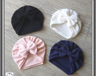 Turban cap bebe hot girl knot, buns or whirlpool from birth to 24 months