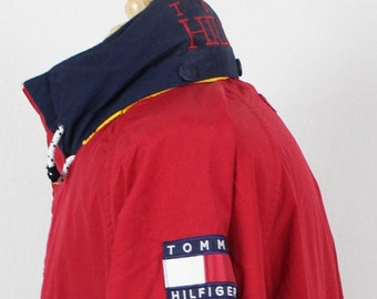 Vintage 90's Tommy Hilfiger Sailing Hooded Jacket Spell Out