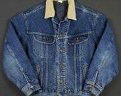 Lee Vintage 90 39 s Blanket Lined Denim Trucker Jacket Mens Large Storm Rider Vintage Rare Jean Jacket Retro