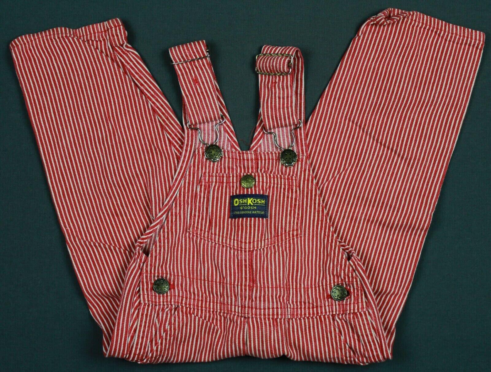 Vintage Overalls & Jumpsuits Vintage Oshkosh Bgosh Made in Usa Denim Vestbak Striped Overalls Toddler 3T Baby Infant Kids Costume $0.00 AT vintagedancer.com