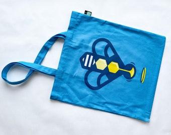 Bee Saviour Behaviour heavy cotton tote bag with pocket