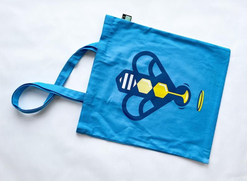 Bee Saviour Behaviour heavy cotton tote bag with pocket image 0