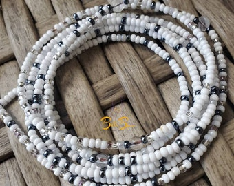adorned with Clear quartz crystals Clarity Belly beads Goddess beads | Waist beads