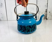 Vintage finel finland tea pot enamel