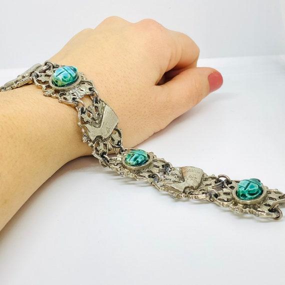 Vintage Silver bracelet, Nefertiti bracelet, Egypt