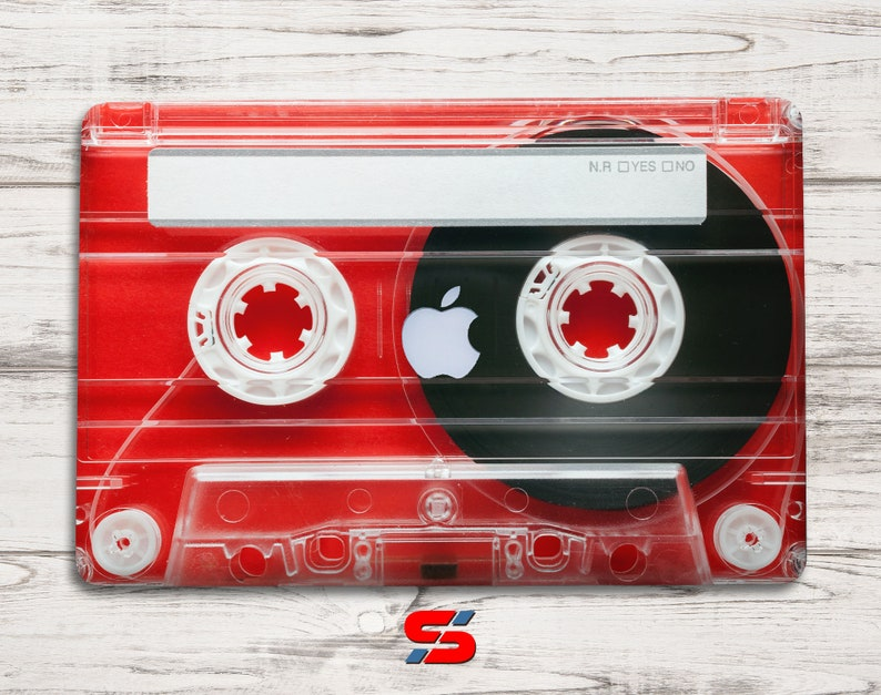 Red vintage audio cassette skin for macbook pro, new Air and other laptop  Stylish fashin new macbook pro decal stylish macbook skin