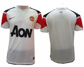 ea500206981 2010-2011 Manchester United Soccer Jersey White Custome Any Name And Number