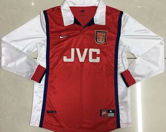 66669c35035 1998 Arsenal Soccer Jersey Long Sleeves Retro Home Custome Name And Number