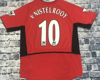 5d72a4392 2002 Manchester United Van Nistelrooy Jersey Home