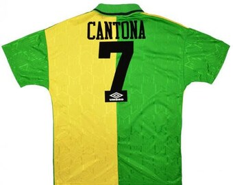 b7962e053 1992-1994 Manchester United CANTONA Soccer Jersey Away Custome Any Name And  Number