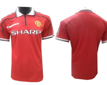 c4c21eedd3e 1998-1999 Manchester United Soccer Jersey Custome Any Name And Number