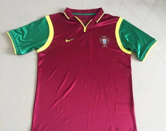 4d6863b6 1999 Portugal Soccer Jersey Home Custome Any Name And Number